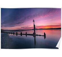Bembridge Harbour Sunset Poster