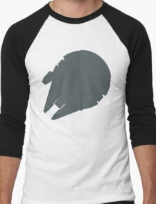 Millennium Falcon Steel Grey Men's Baseball ¾ T-Shirt