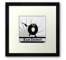 Bad Donut Game Collection Framed Print