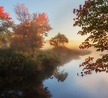 Bantam River Sunrise by Bill Wakeley