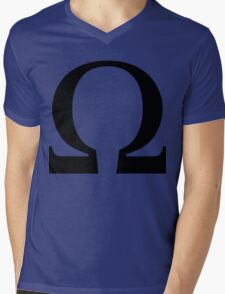 Omega Symbol  Mens V-Neck T-Shirt