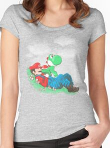 A plumber and his friend Women's Fitted Scoop T-Shirt