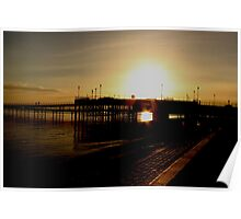 Sundown at the pier Poster