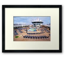 Everyone's overboard! Ted realizes 'There's a huge leek in the ship' was the wrong thing to say. Framed Print