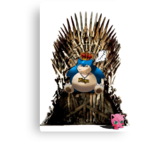 Snorlax and Jigglypuff take the Iron Throne Canvas Print