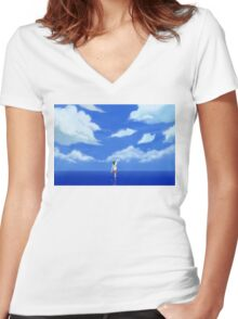 LOST IN A DREAM Women's Fitted V-Neck T-Shirt