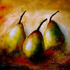 Still Life With Three Pears.. by © Janis Zroback