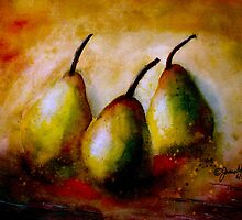 Still Life With Three Pears.. by ©Janis Zroback