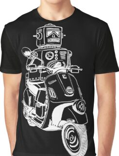 Robots love Vespa! Graphic T-Shirt