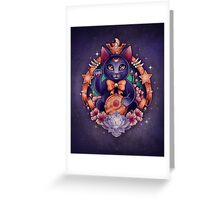 Maneki Luna - Print Greeting Card