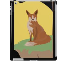The Lonely Fox Sitting Viewing the Moon iPad Case/Skin