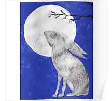 March Moon Gazing Hare Poster