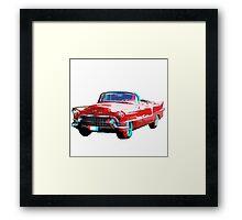 3D Cadillac Framed Print