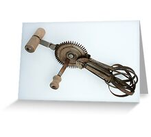 Antique Eggbeater Greeting Card