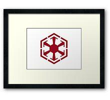 Imperial Crest Red Framed Print