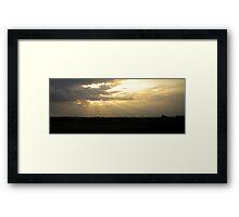 Suffolk Sun and Sail Framed Print