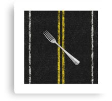 Fork In Road Canvas Print