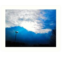 BLUE SUN RAYS  Art Print