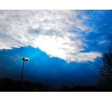 BLUE SUN RAYS  Photographic Print