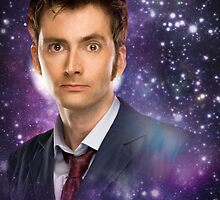 The 10th Doctor in Space by caitsicle