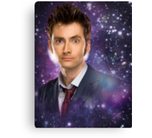 The 10th Doctor in Space Canvas Print