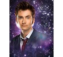 The 10th Doctor in Space Photographic Print