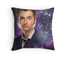 The 10th Doctor in Space Throw Pillow