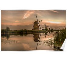 Kinderdijk windmills Holland  Poster