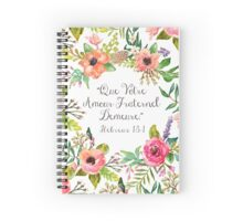 Let Your Brotherly Love Continue (French) Spiral Notebook