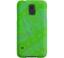 Green Christmas garlands Samsung Galaxy Case/Skin