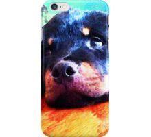 Rottie Puppy by Sharon Cummings iPhone Case/Skin