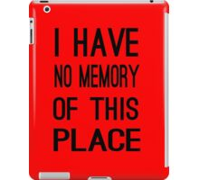 Gandalf - The lord of the rings - i have no memory of this place iPad Case/Skin