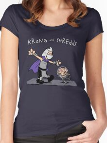 Krang and Shredds Women's Fitted Scoop T-Shirt