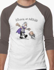 Krang and Shredds Men's Baseball ¾ T-Shirt