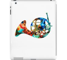 French Horn - Colorful Music by Sharon Cummings iPad Case/Skin