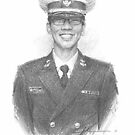 drawing of a Navy man by Mike Theuer
