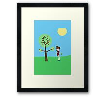 Girl and the tree Framed Print