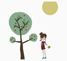 Girl and the tree Kids Clothes