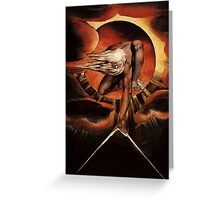 William blake the Great Architect  Greeting Card
