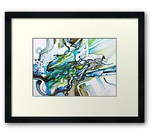 Eleven Percent  - Watercolor Painting Framed Print