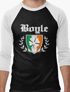 Boyle Family Shamrock Crest (vintage distressed) Men's Baseball ¾ T-Shirt