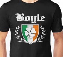 Boyle Family Shamrock Crest (vintage distressed) Unisex T-Shirt
