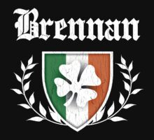 Brennan Family Shamrock Crest (vintage distressed) by robotface