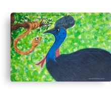 Taipan meets Cassowary; inspirational quotes Canvas Print