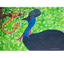 Taipan meets Cassowary; inspirational quotes Photographic Print
