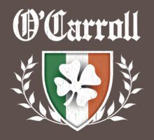 O'Carroll Family Shamrock Crest (vintage distressed) Kids Clothes