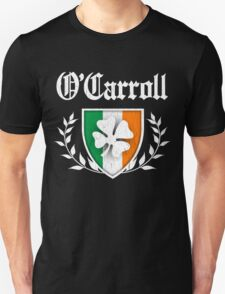 O'Carroll Family Shamrock Crest (vintage distressed) Unisex T-Shirt
