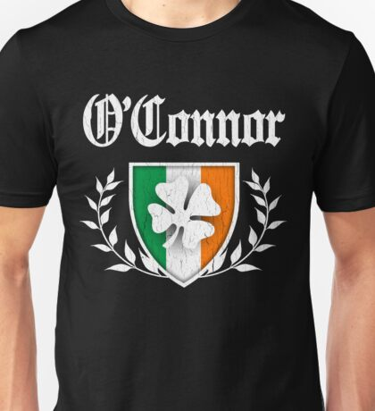 O'Connor Family Shamrock Crest (vintage distressed) Unisex T-Shirt