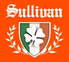 Sullivan Family Shamrock Crest (vintage distressed) Kids Tee