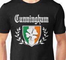 Cunningham Family Shamrock Crest (vintage distressed) Unisex T-Shirt